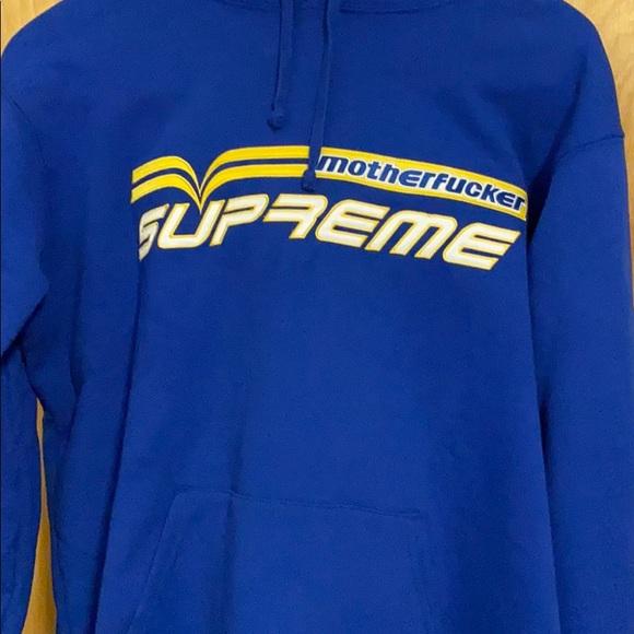 Supreme motherfucker hoodie in blue